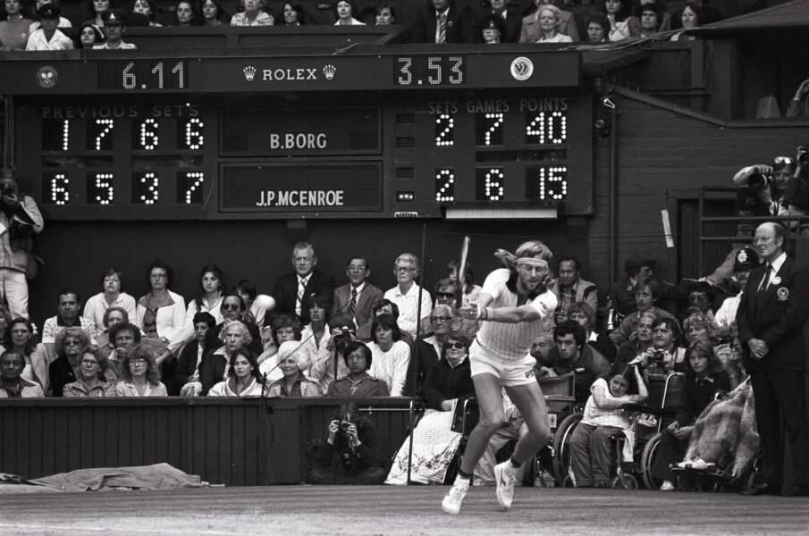 Bjorn Borg contre John McEnroe en finale de Wimbledon en 1980