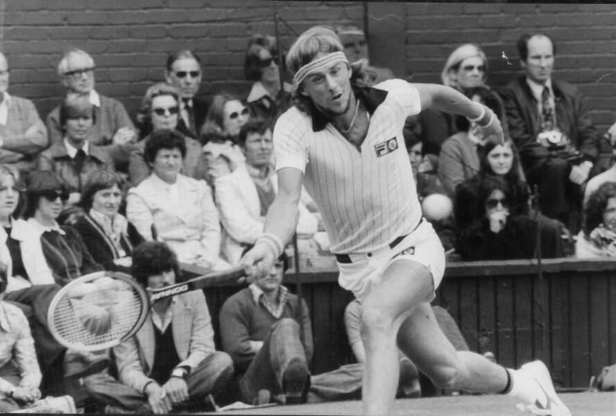 Le père, Bjorn Borg lors de l'US Open de 1977