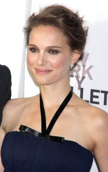Natalie Portman en 2012 : regard ourlé de noir et chignon chic