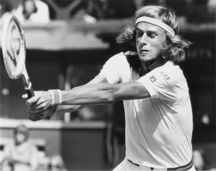 En 1975 à Wimbledon, Bjorn Borg met toutes ses forces dans ses coups