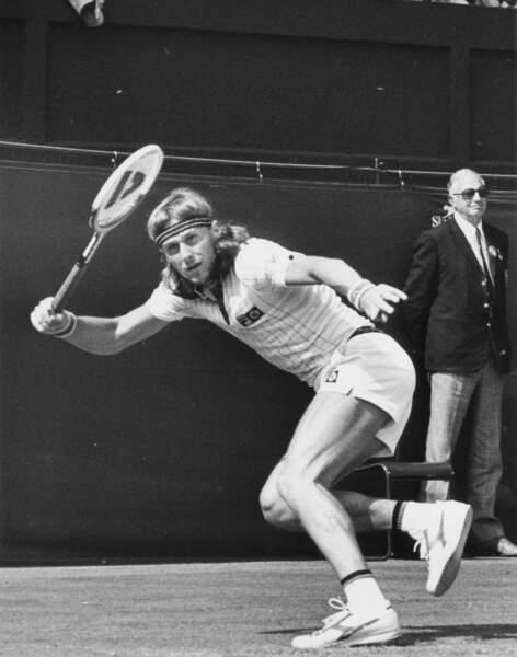 Le père, Bjorn Borg à Wimbledon en 1977