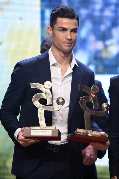 "Cristiano Ronaldo lors de la cérémonie du ""Gran Gala del Calcio"" à Milan en Italie le 2 décembre 2019"