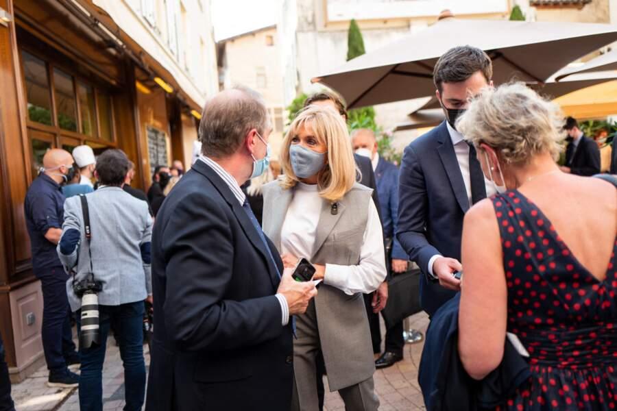 Brigitte Macron, lors du déplacement du président de la République à Valence Valence, le 8 juin 2021.
