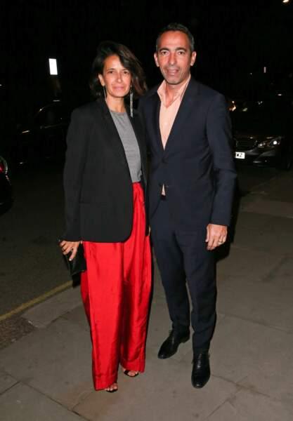 Sophie Djorkaeff et son mari Youri Djorkaeff, le 26 septembre 2018 à Londres