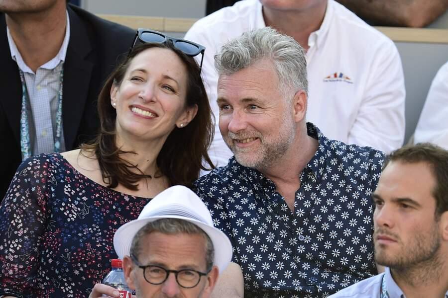 Darren Tulett et sa femme Magali Falconetti dans les tribunes de Roland Garros, le 31 mai 2019.
