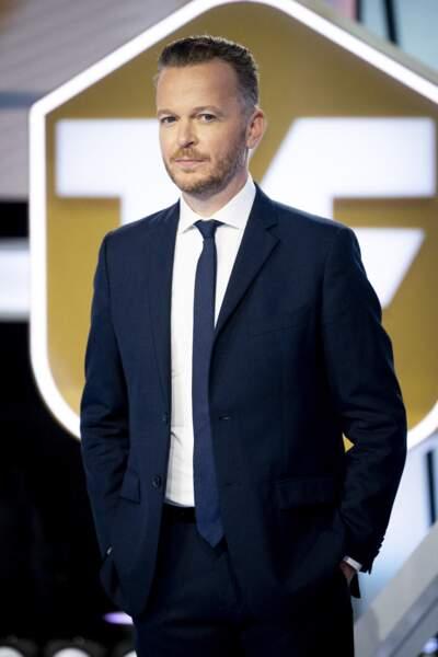 Julien Brun lors du lancement de la chaine de télévision Téléfoot à Aubervilliers le 18 août 2020.