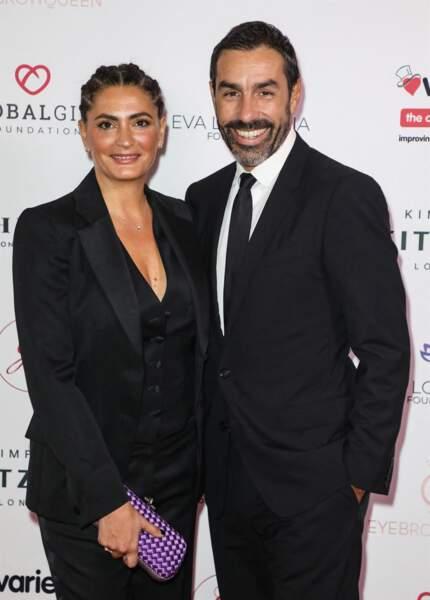Jessica Lemarie et Robert Pires à Londres, le 17 octobre 2019.