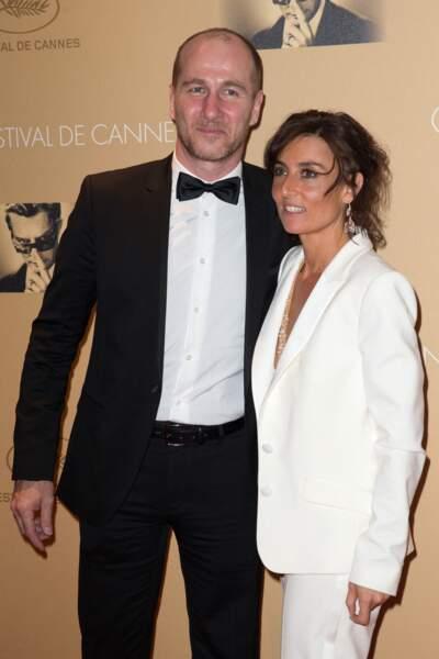 Nathalie Iannetta et son mari Jean-Charles Sabattier à Cannes, le 14 mai 2014.
