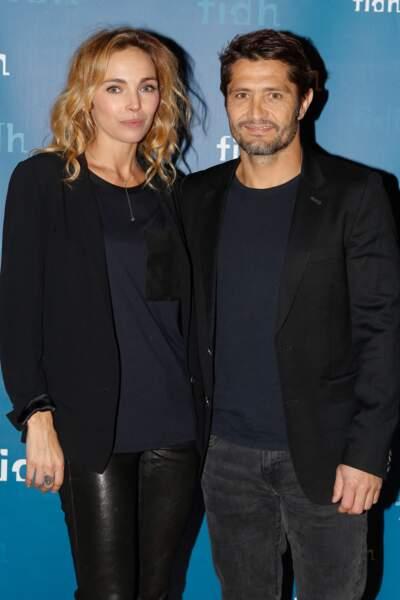 Bixente Lizarazu et sa compagne Claire Keim, le 8 décembre 2014.