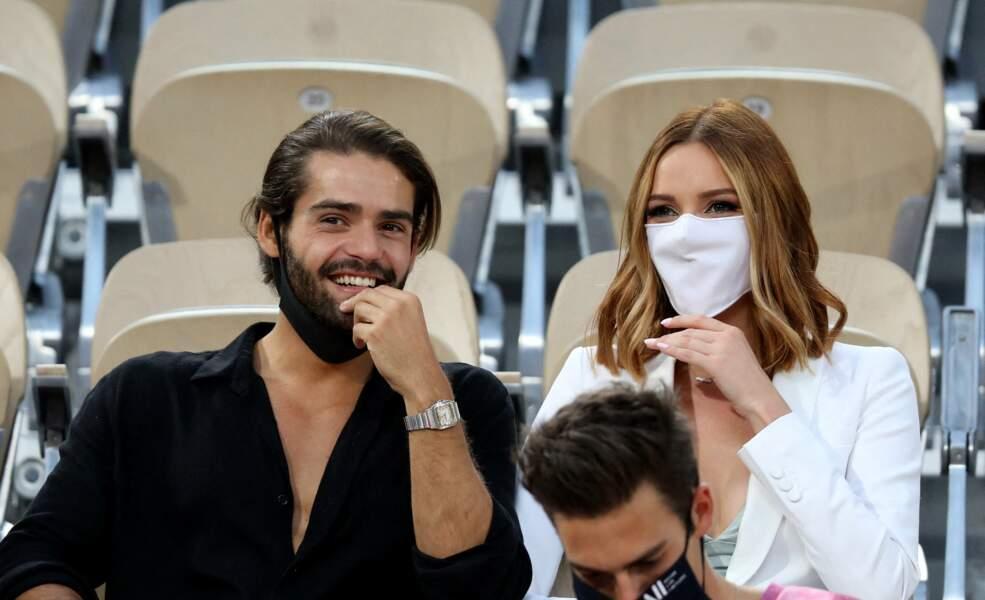 Renan Pacheco et Maëva Coucke dans les tribunes des Internationaux de France de Tennis de Roland Garros à Paris. Le 9 juin 2021