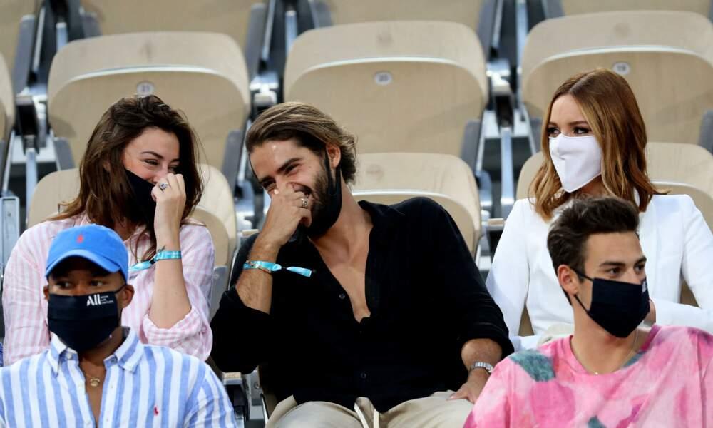 Moment rigolade pour Rachel Legrain-Trapani, Renan Pacheco et Maëva Coucke aux Internationaux de France de Tennis de Roland Garros à Paris. Le 9 juin 2021
