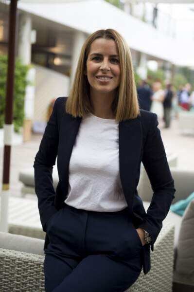 Vanessa Le Moigne à Roland Garros, le 30 mai 2019