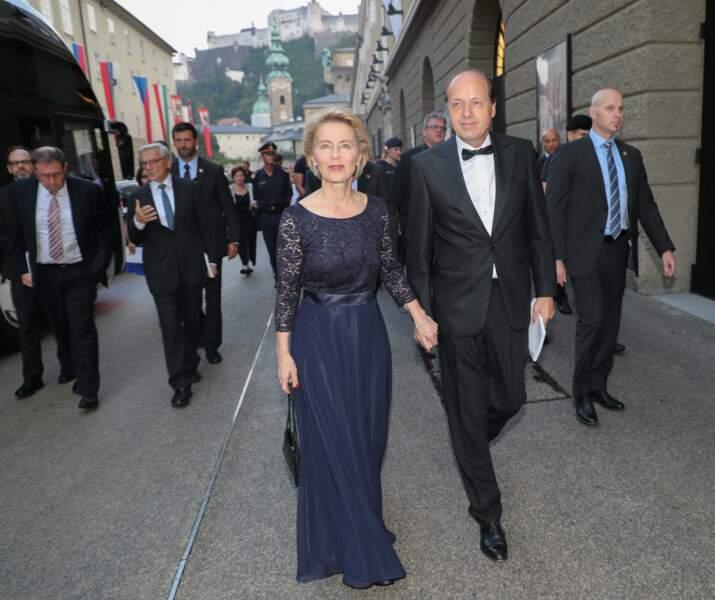Ursula von der Leyen, la présidente de la Commission Européenne, et seule autre femme avec Angela Merkel à siéger au G7, sera accompagnée de son mari Heiko