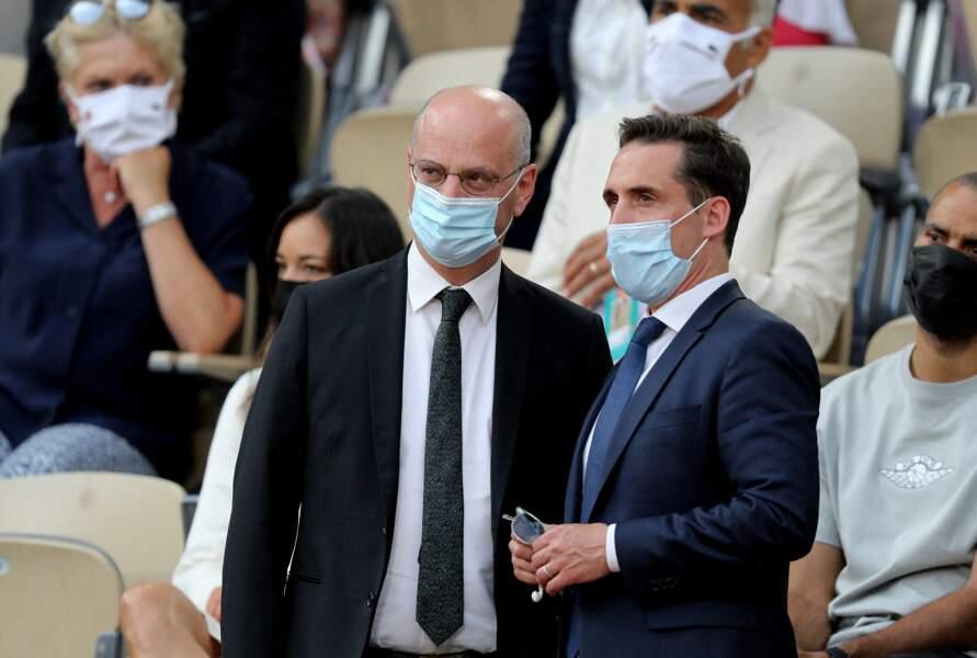 Jean-Michel Blanquer et Jean-Baptiste Djebbari à Roland Garros à Paris, le 9 juin 2021