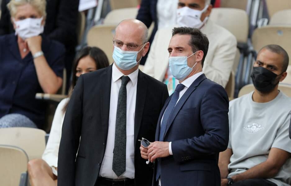 Jean-Michel Blanquer et Jean-Baptiste Djebbari à Roland-Garros, Paris, le 9 juin 2021