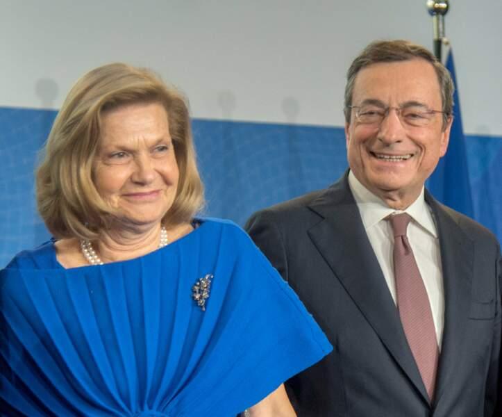 Serena Draghi sera aux côtés de son époux, le premier Ministre italien Mario Draghi, qui était auparavant gouverneur de la Banque Centrale Européenne