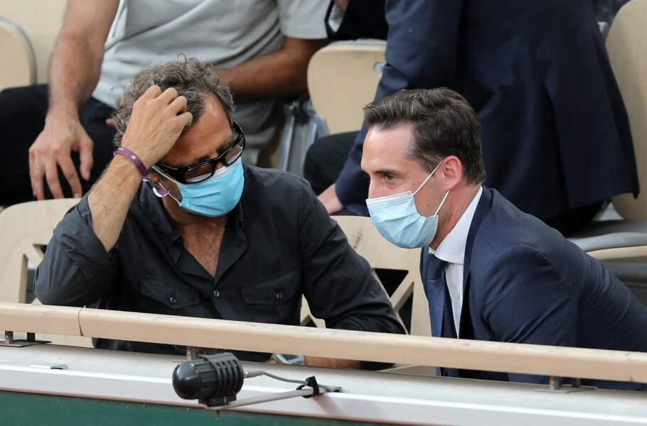 Fabien Galthié et Jean-Baptiste Djebbari à Roland-Garros le 9 juin 2021