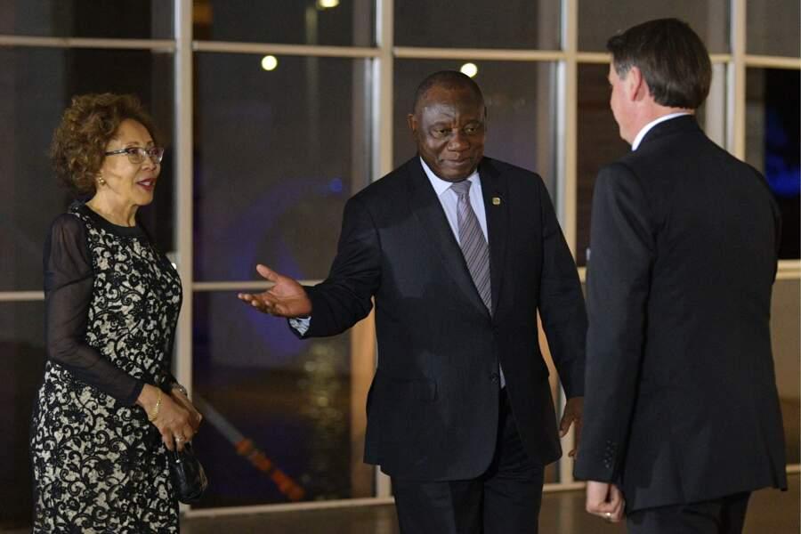 Le président sud-africain Cyril Ramaphosa Tshepo Motsepe seront également au sommet du G7, l'Afrique du Sud faisant partie des pays invités à cette édition