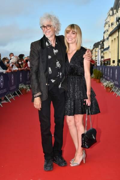 Le duo Louis Bertignac et Laetitia Brichet est apparu très soudé au festival du film ce vendredi 11 juin.