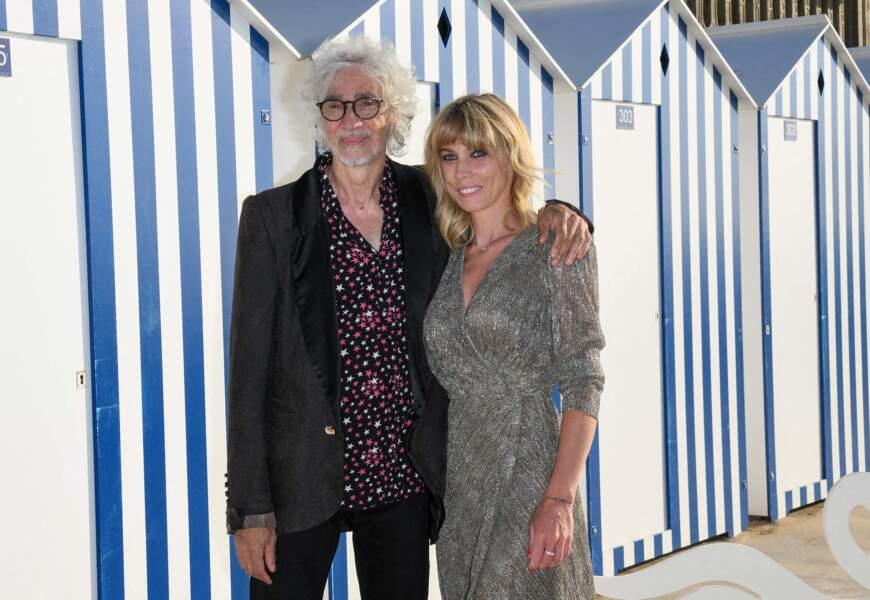 Laetitia Brichet et Louis Bertignac lors du 35ème festival de Cabourg le 10 juin 2021.