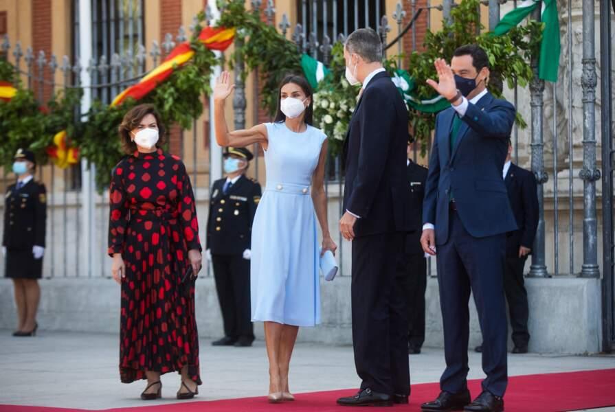 Le roi Felipe VI était venu accompagné de son épouse la reine Letizia