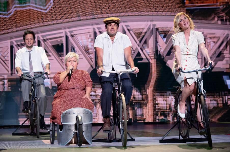 2021 : Michèle Laroque est une fidèle du spectacle des Enfoirés, avec Patrick Bruel et Mimi Mathy.