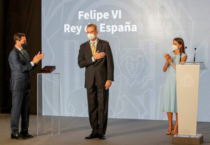 Le roi Felipe VI reçoit  la Médaille d'honneur d'Andalousie, le 14 juin