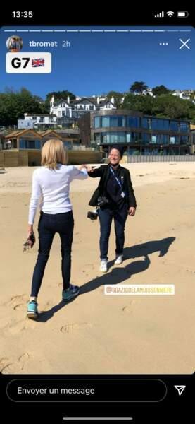 Brigitte Macron en jean et baskets le 13 juin 2021