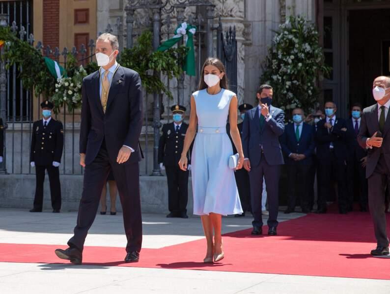 Le roi Felipe VI et la reine Letizia ont pris leurs quartiers à Séville, notamment pour assister au premier match de l'Espagne dans le cadre de l'Euro