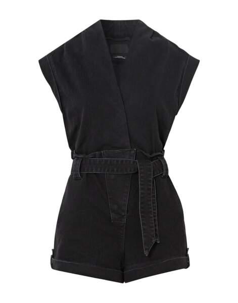 Combinaison une pièce noire en coton, 264€, RTA