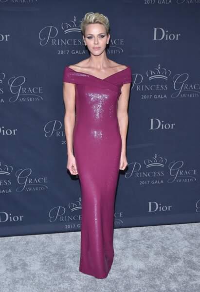 "25 octobre 2017 : Charlene de Monaco assiste au gala ""Princess Grace Awards"""