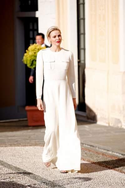 17 juin 2015 : Charlene de Monaco, superbe en robe Ralph Lauren lors du Festival de Télévision de Monte-Carlo