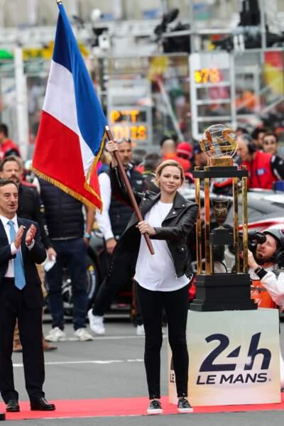 15 juin 2019 : Charlene donne le départ des 24 Heures du Mans