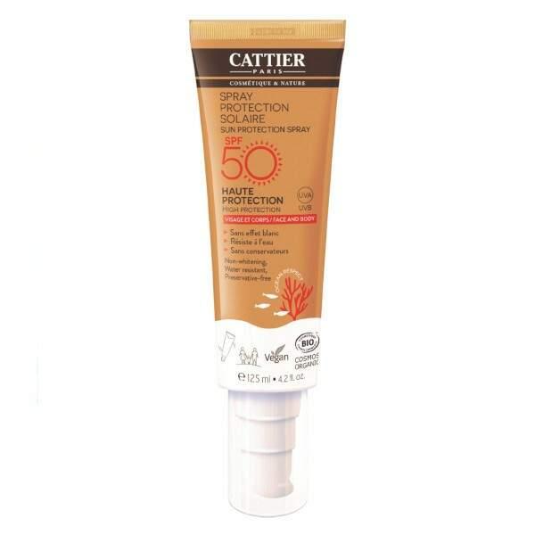 Spray Protection Solaire SPF 30 Visage & Corps, Cattier Bio, 18,50 €