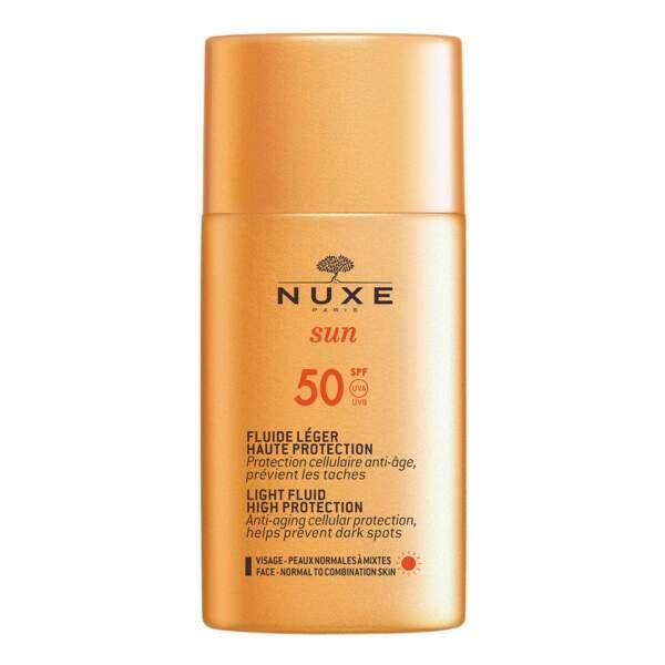 Fluide Léger SPF 50, Nuxe Sun, 20,20 €