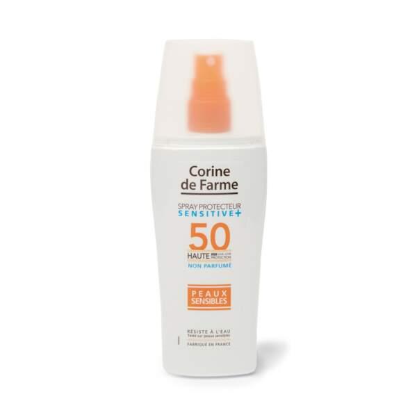 Spray Protecteur Sensitive + SPF 50, Corine de Farme, 11,90 €