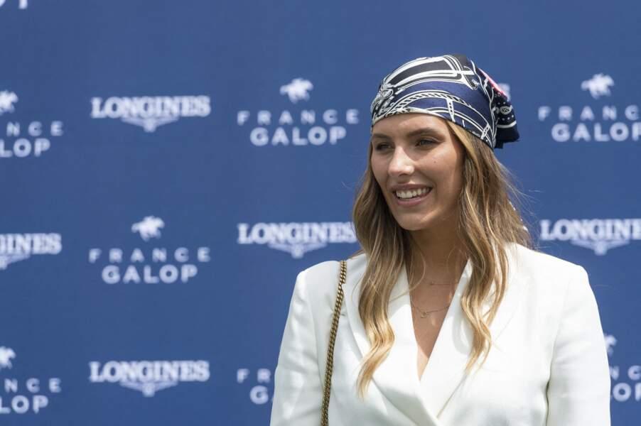 Miss France 2014, Camille Cerf a assisté à une course hippique à Chantilly, dimanche 20 juin