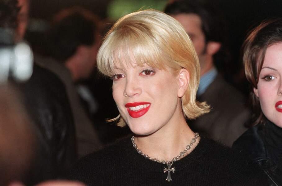 Tori Spelling, en 1994, lors de l'avant-première du film Interview avec un vampire.