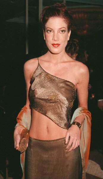 Tori Spelling, à une soirée à Los Angeles, en 2000.