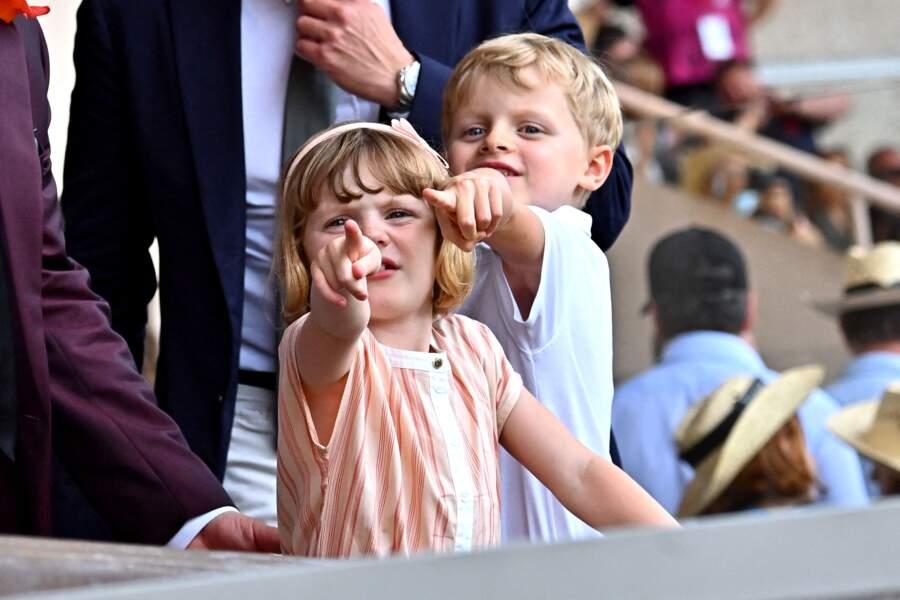 Les jumeaux Gabriella et Jacques de Monaco n'ont rien râté de cette dernière journée de compétition dans le cadre du World Rugby Sevens Repechage, au stade Louis-II de Monaco ce dimanche 20 juin.