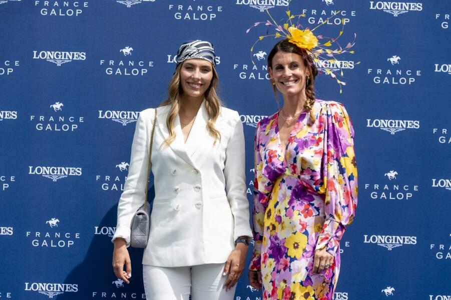 Les deux anciennes Miss France, Sophie Thalmann et Camille Cerf, étaient présentes au Prix de Diane