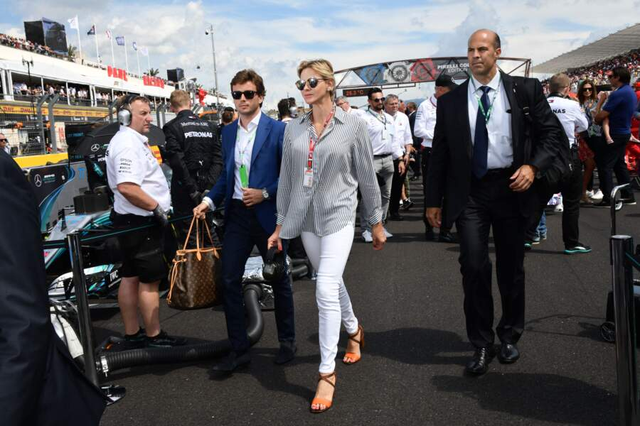 24 juin 2018 : Charlene de Monaco assiste au Grand Prix de France au Castellet