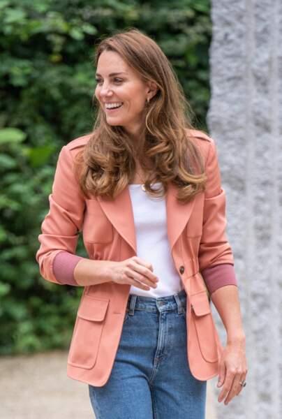 Kate Middleton visite le musée d'histoire naturelle de Londres, le 22 juin 2021.