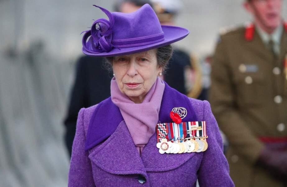 La princesse Anne à Londres, le 25 avril 2021.