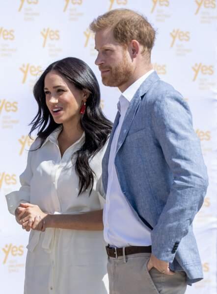 Le prince Harry et Meghan Markle, à Johannesburg le 2 octobre 2019.