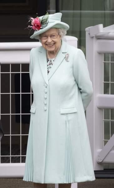 La reine Elisabeth II à Ascot, le 19 juin 2021.