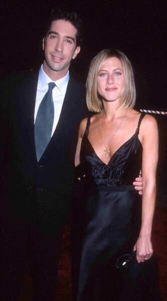 Jennifer Aniston et David Schwimmer, l'amour dans Friends