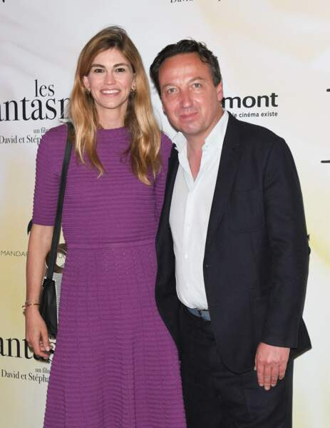 "Emmanuel Perrotin et sa femme Lorena Vergani à l'avant-première du film ""Les fantasmes"""
