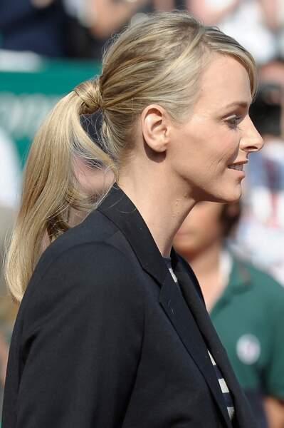 17 avril 2011 : Charlene et sa maxi queue de cheval aux Monte Carlo Rolex Masters