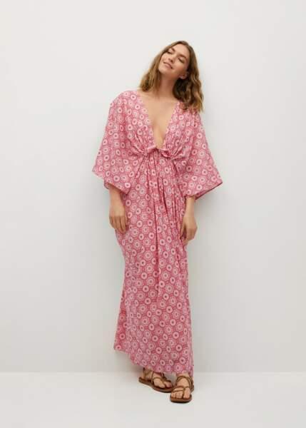 Robe longue imprimée, 79,99€, Chufy x Mango